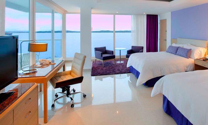 Hotel Hilton Cartagena, Colômbia - Quarto Double