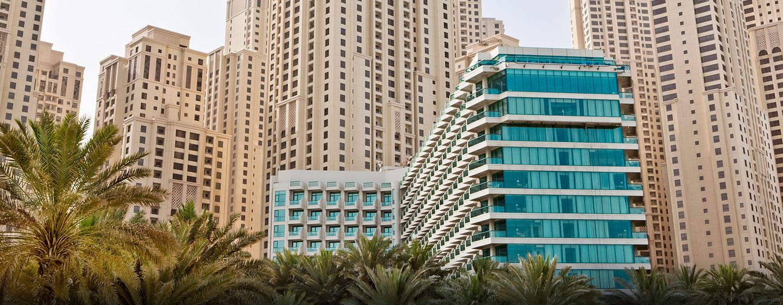 Hilton Dubai Jumeirah Resort, VAE – Außenbereich des Hotels