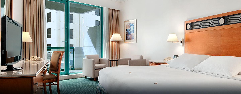 Hôtel Hilton Dubai Jumeirah Resort, EAU - Chambre Hilton de luxe avec très grand lit