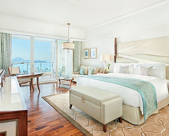 Waldorf Astoria Dubai Palm Jumeirah, VAE - King Premier kamer met uitzicht, en toegang tot de lounge