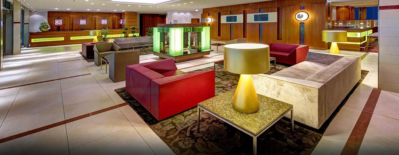 Herzlich willkommen im modernen Hilton Garden Inn Frankfurt Airport