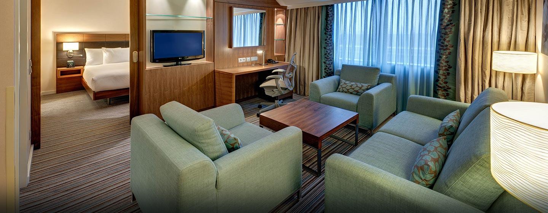 Die komfortablen Suiten verfügen über separate Wohn- und Schlafbereiche