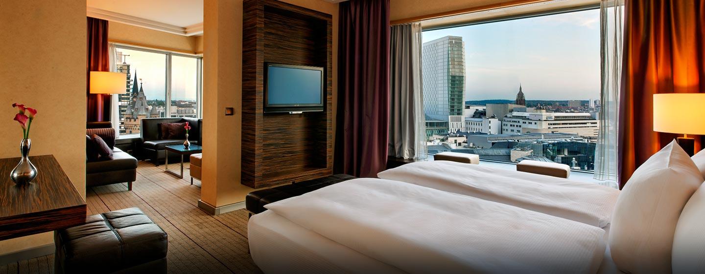 Ein separater Wohn- und Schlafbereich gehört zum Standart in den luxeriösen Suiten