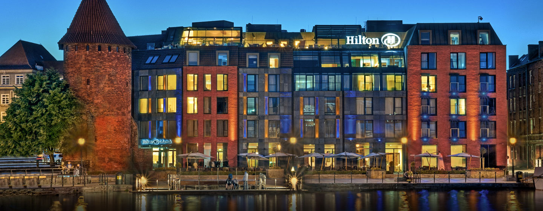 Hotel Hilton Gdańsk, Polska - Fasada hotelu