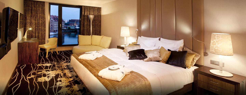 Hotel Hilton Gdańsk, Polska - Sypialnia w apartamencie