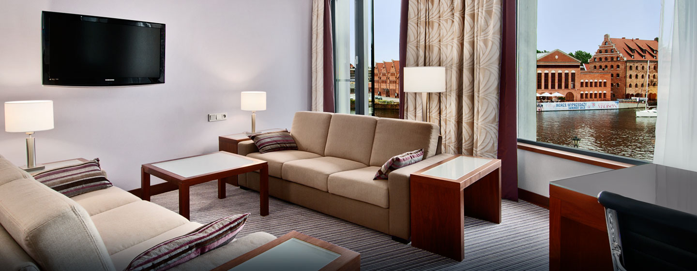 Hotel Hilton Gdańsk, Polska - Apartament Hilton King