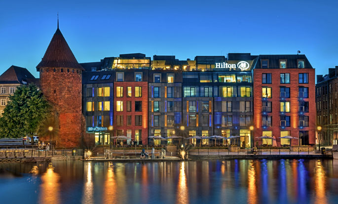 Hilton Gdansk, Polen - Hotellet utvendig