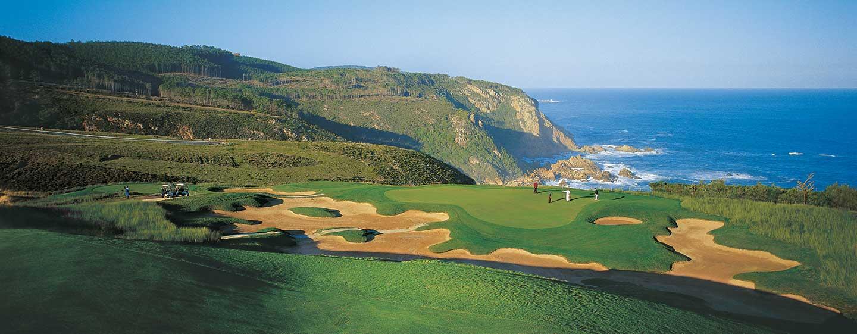 Conrad Pezula Resort and Spa, Knysna, Südafrika – Panaromaaufnahme des Golfplatzes