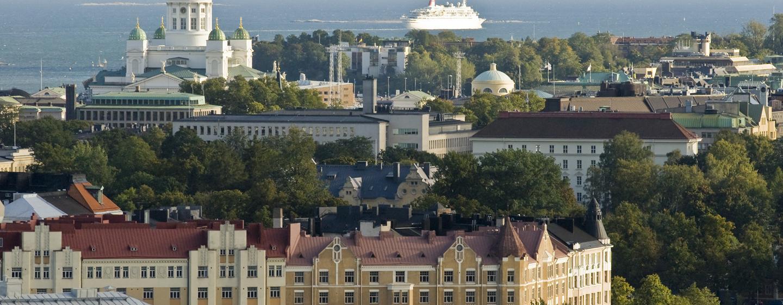 Hilton Helsinki Kalastajatorppa Hotel, Finnland – Blick von Hakaniemi auf das Stadtzentrum