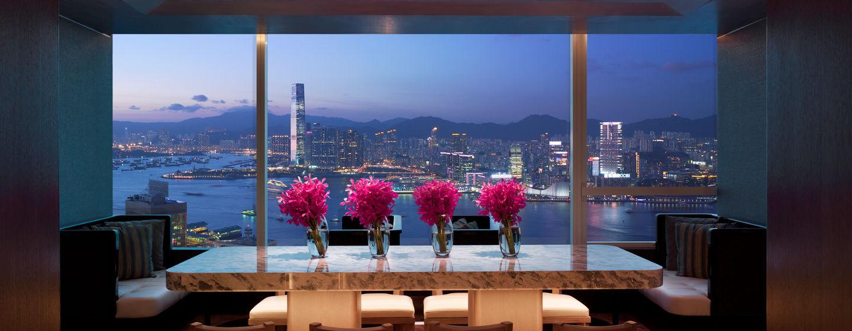 Gäste der Executive Lounge kommen in den Genuss der wunderschönen Aussicht auf Hong Kong