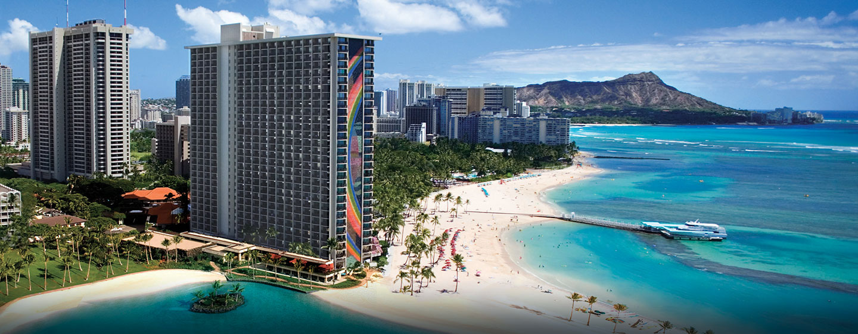 Hôtel Hilton Hawaiian Village Waikiki Beach Resort, États-Unis - Extérieur du complexe hôtelier