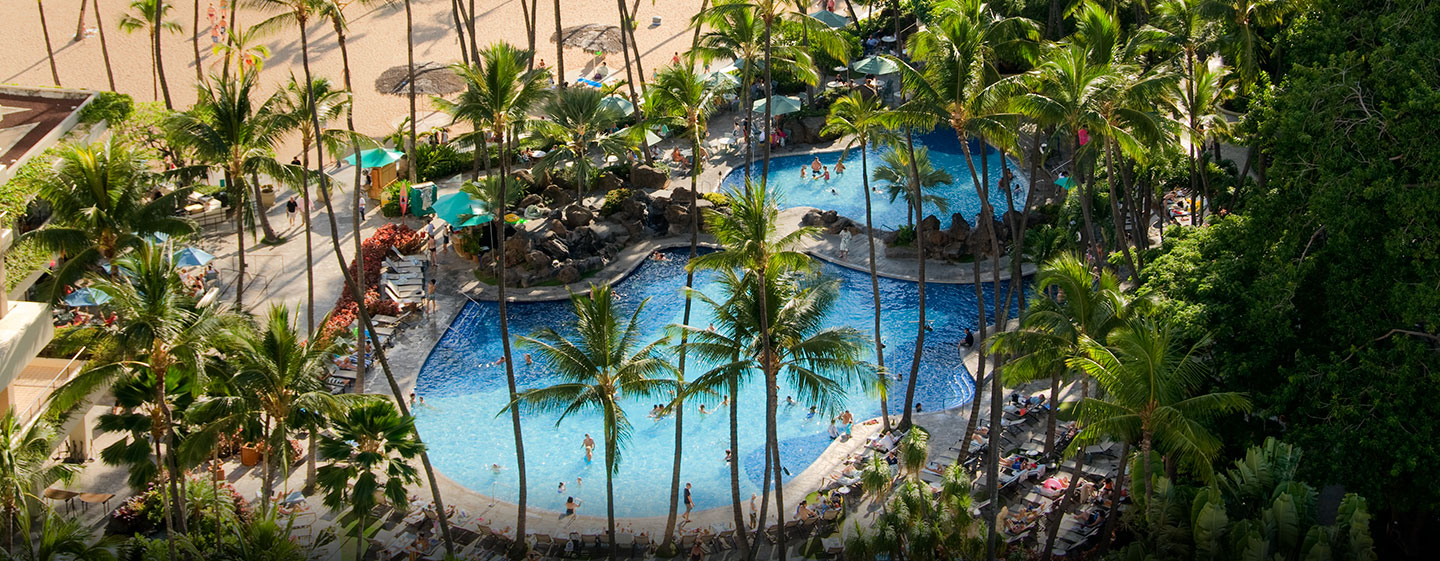 Hôtel Hilton Hawaiian Village Waikiki Beach Resort, États-Unis - Piscine Super Pool