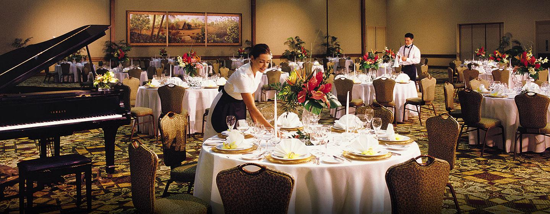 Hôtel Hilton Hawaiian Village Waikiki Beach Resort, États-Unis - Banquet dans la salle de réception Tapa