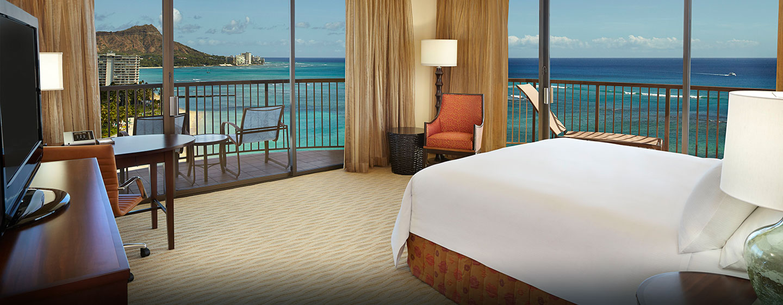 Hôtel Hilton Hawaiian Village Waikiki Beach Resort, États-Unis - Chambre d'angle Rainbow Tower côté océan