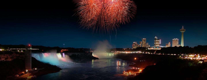 Hôtel Embassy Suites by Hilton Niagara Falls - Fallswiew, Canada - Feux d'artifice