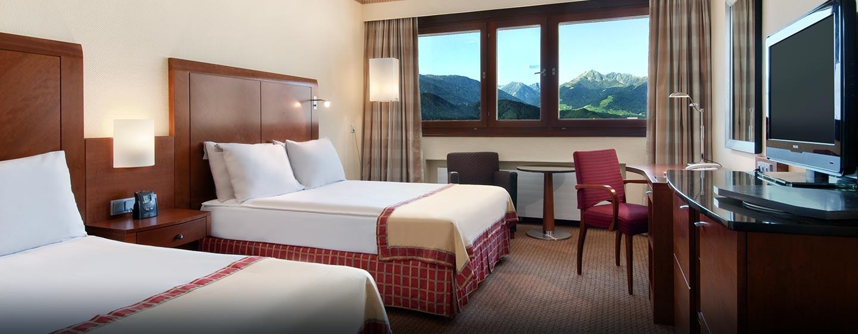 Bewundern Sie aus der Suite den schönen Ausblick auf die Tiroler Alpe