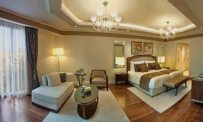 Hôtel Waldorf Astoria Jerusalem, Israël - Chambre de luxe avec très grand lit