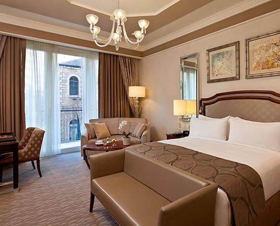 Hôtel Waldorf Astoria Jerusalem, Israël - Chambre de luxe avec lits jumeaux et balcon