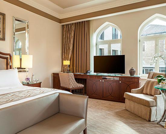 Hôtel Waldorf Astoria Jerusalem, Israël - Suite junior avec très grand lit