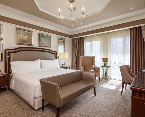 Hôtel Waldorf Astoria Jerusalem, Israël - Chambre Grand de luxe avec très grand lit