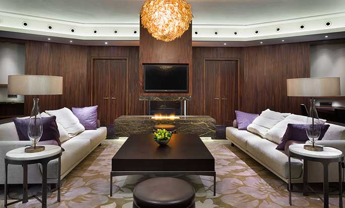 Hotel Hilton Kyiv, Ukraina – Salon w Apartamencie prezydenckim