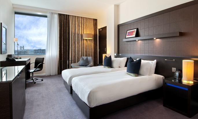 Hôtel Hilton London Canary Wharf Hotel, Londres - Chambre avec lits jumeaux