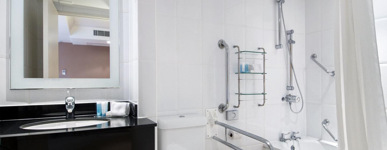Barrierefreie Badezimmer gehören zur Austattung des Hotels