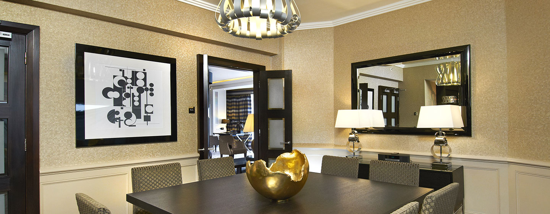 London Hilton on Park Lane, Storbritannien - Middag i Presidentsvit