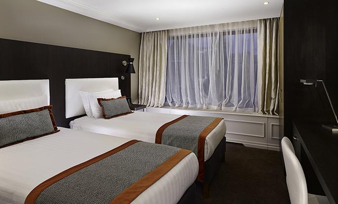 Hôtel DoubleTree by Hilton Hyde Park, Londres - Chambre avec lits jumeaux