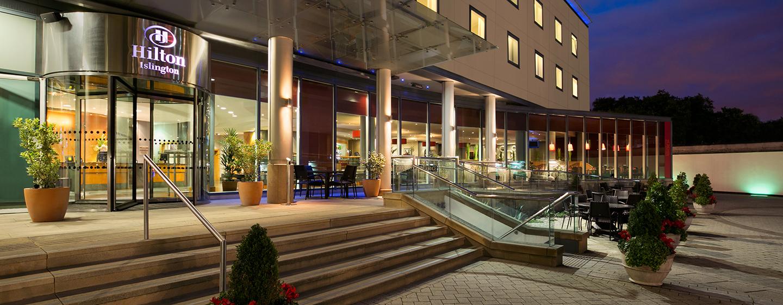 Hilton London Angel Islington Hotel, Großbritannien - Außenansicht bei Nacht