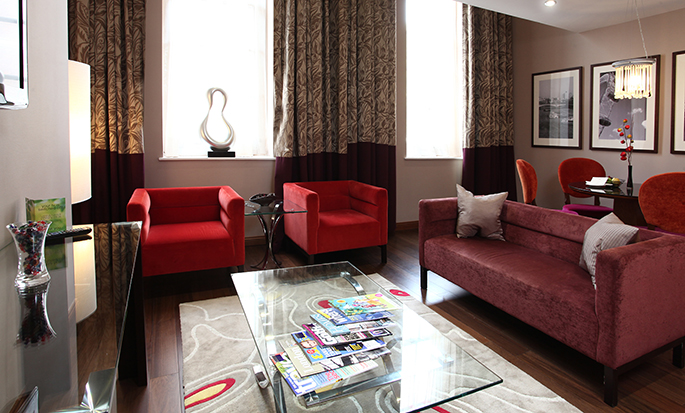 DoubleTree by Hilton Hotel London – Marble Arch, Storbritannien – Duplexsvit, vardagsrum