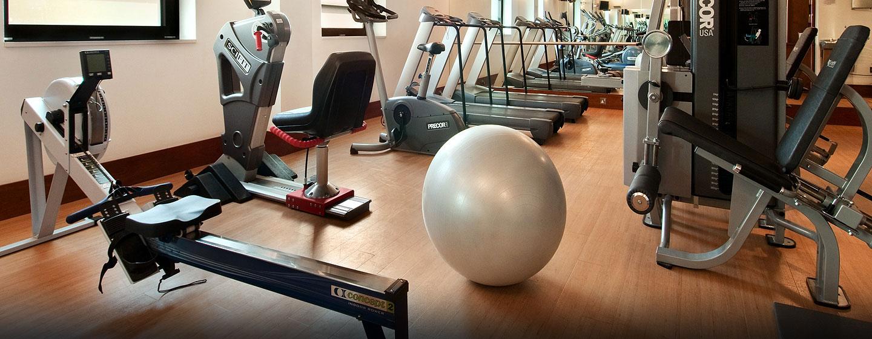 Trainieren Sie im modernen Fitness Center des Hilton Londin Tower Brigde