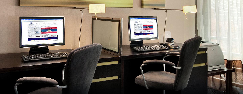 Geschäftliches können Sie unkompliziert im Business Center erledigen