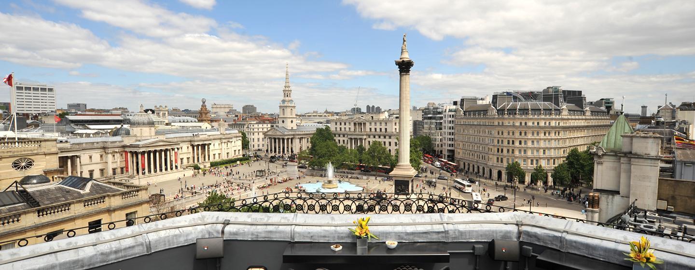 Von der großen Dachterrasse haben Sie einen uneingeschränkten Blick auf den Trafalger Square