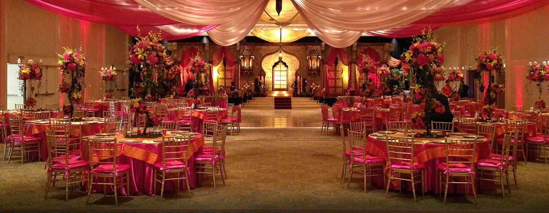 Hilton Miami Airport Hotel, Florida – Aufbau für gesellschaftliche Veranstaltung