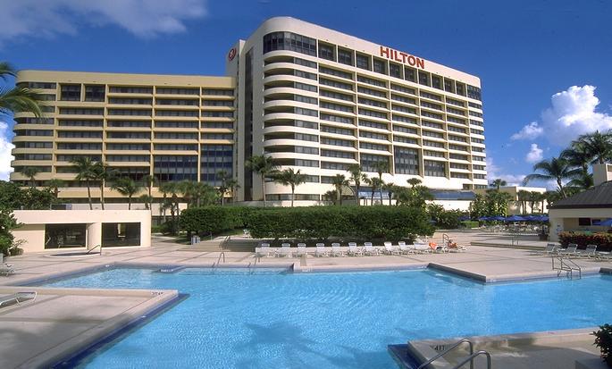 Hôtel Hilton Miami Airport, Floride - Extérieur avec piscine