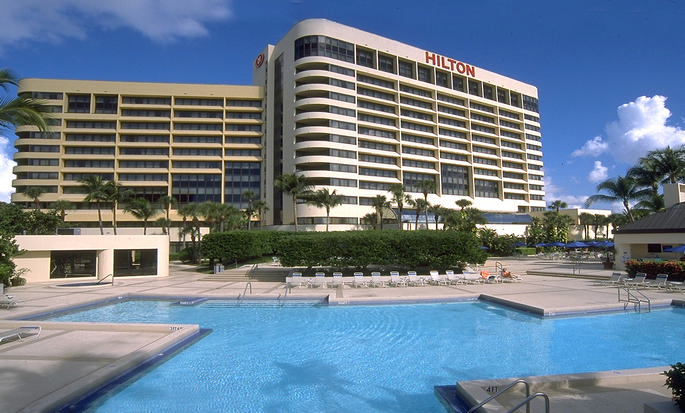 Hotel Hilton Miami Airport Blue Lagoon, Flórida - Exterior com piscina