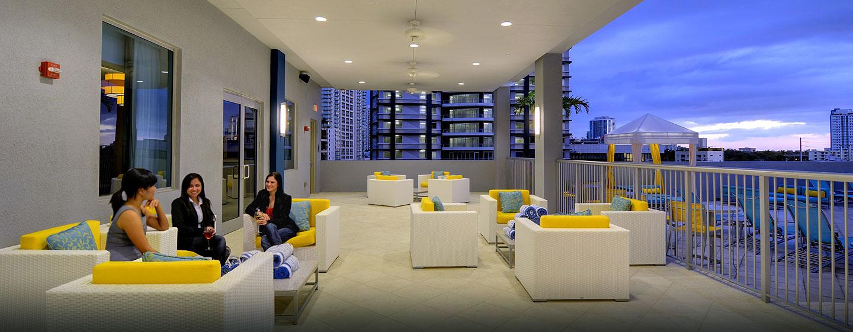 Hotel Hampton Inn & Suites Miami/Brickell-Downtown, FL - Veranda