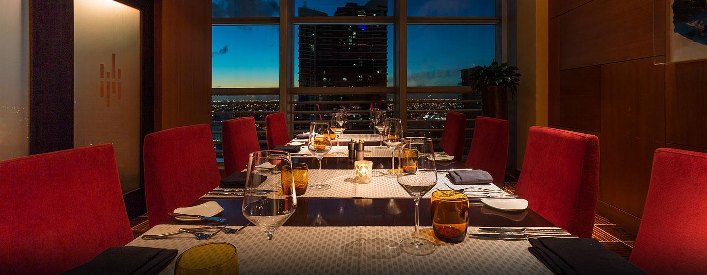 Hotel Conrad Miami, Flórida - Restaurante e adega do átrio
