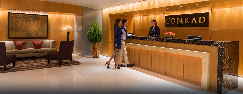 Hotel Conrad Miami, Flórida - Recepção