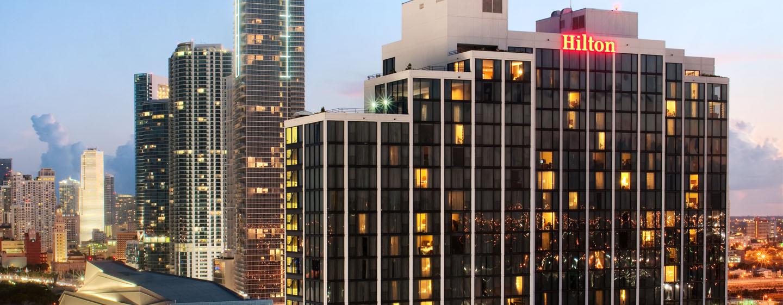 Hotel Hilton Miami Downtown Eua Fachada Del