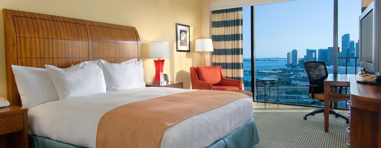 Hotel Hilton Miami Downtown Eua Dormitorio Con Cama King
