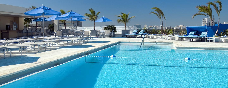 Hotel Hilton Miami Downtown Eua Piscina En La Terrace De Séptima Planta