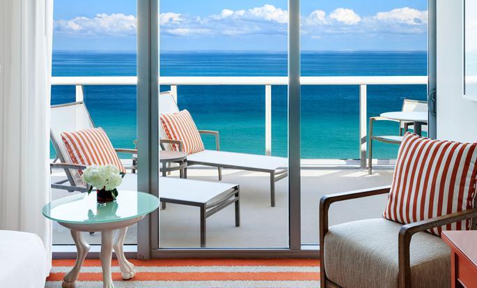Hôtel Hilton Cabana Miami Beach - Balcon avec vue sur l'océan