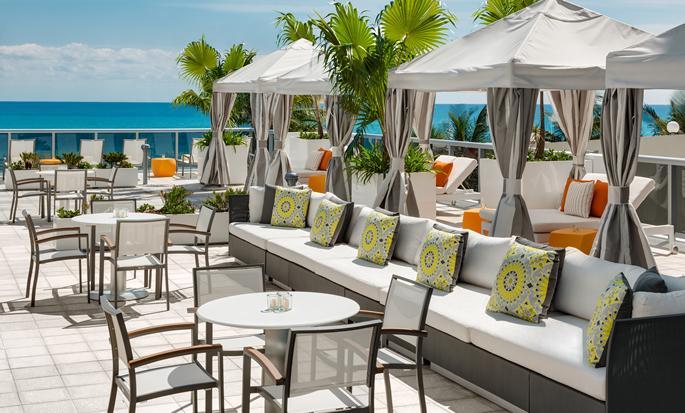Hilton Cabana Miami Beach hotel, USA - Cabanas