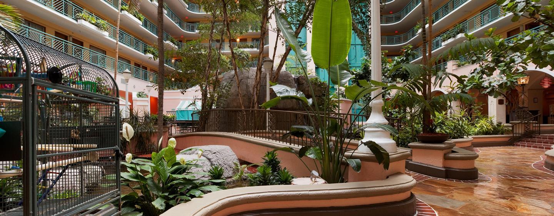 Embassy Suites Miami - Aeroporto Internacional, Flórida - Átrio a céu aberto