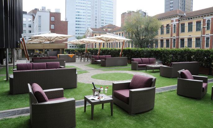 Hilton Milan Hotel, Italien – Terrasse