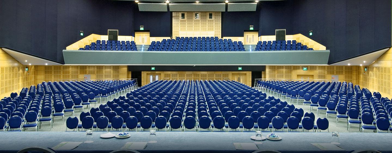 Der Ballsaal des Hilton Malta bietet Platz für bis zu 1.330 Personen und kann nach Wunsch bestuhlt werden