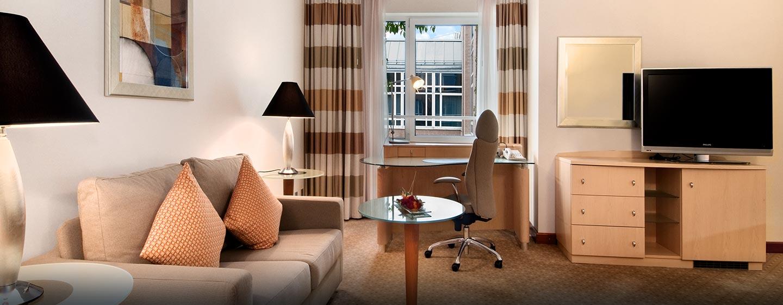 Die Junior Suite bietet Ihnen viel Platz und separate Wohn- und Schlafbereiche