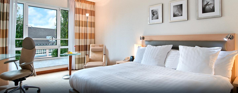 Das große und helle Executive Zimmer ermöglicht den Gästen die Executive Lounge kostenfrei zu nutzen